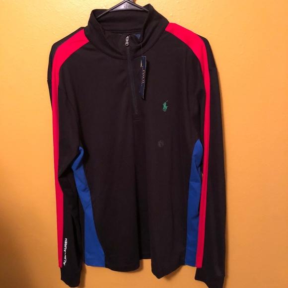 35f2116da Polo Ralph Lauren Black Half Zip Pullover
